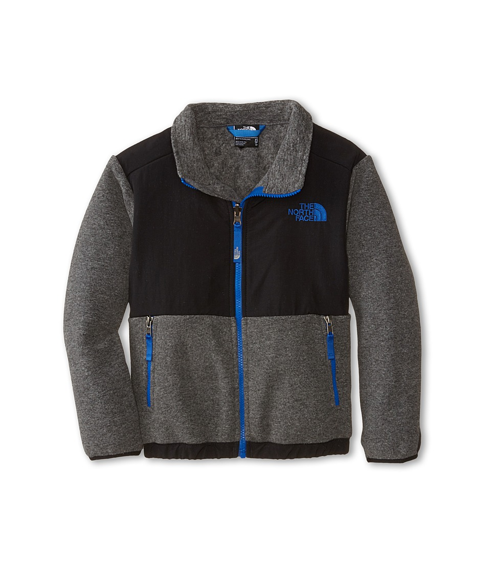The North Face Kids - Denali Jacket (Little Kids/Big Kids) (Recycled Charcoal Grey Heather/TNF Black) Boy's Coat
