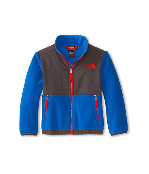 The North Face Kids - Denali Jacket (Little Kids/Big Kids) (Recycled Monster Blue/Graphite Grey) Boy's Coat