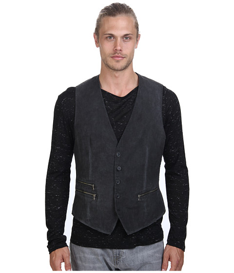 John Varvatos Star U.S.A. - 5B Vest with Zipper Pockets (Shark) Men's Vest