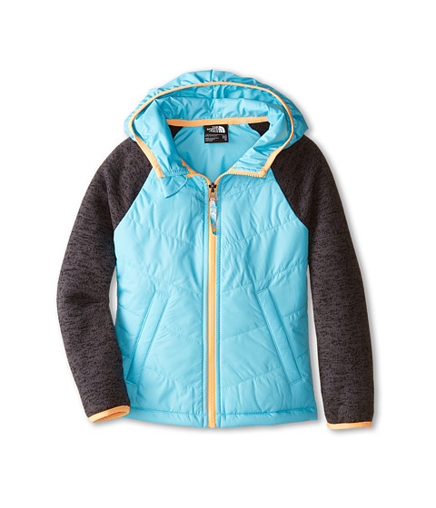 The North Face Kids - Quilted Sweater Fleece Hoodie (Little Kids/Big Kids) (Fortuna Blue) Girl's Sweatshirt