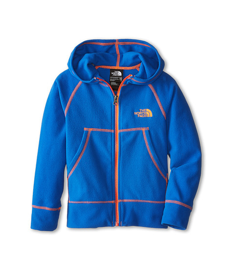 The North Face Kids - Glacier Full Zip Hoodie (Little Kids/Big Kids) (Monster Blue/Shocking Orange) Boy's Sweatshirt