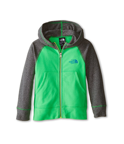 The North Face Kids - Glacier Full Zip Hoodie (Little Kids/Big Kids) (Krypton Green) Boy's Sweatshirt