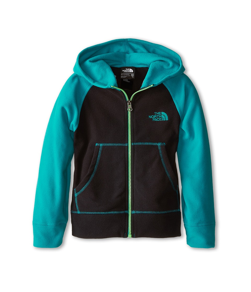 The North Face Kids - Glacier Full Zip Hoodie (Little Kids/Big Kids) (TNF Black/Enamel Blue) Boy's Sweatshirt