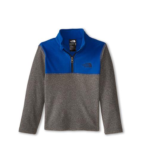 The North Face Kids - Glacier 1/4 Zip (Little Kids/Big Kids) (Zinc Grey Heather/Monster Blue) Boy's Long Sleeve Pullover