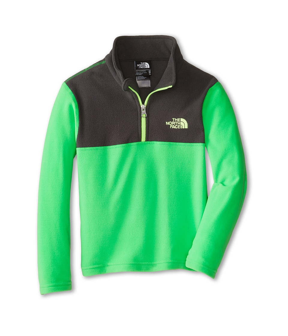 The North Face Kids - Glacier 1/4 Zip (Little Kids/Big Kids) (Krypton Green) Boy's Long Sleeve Pullover