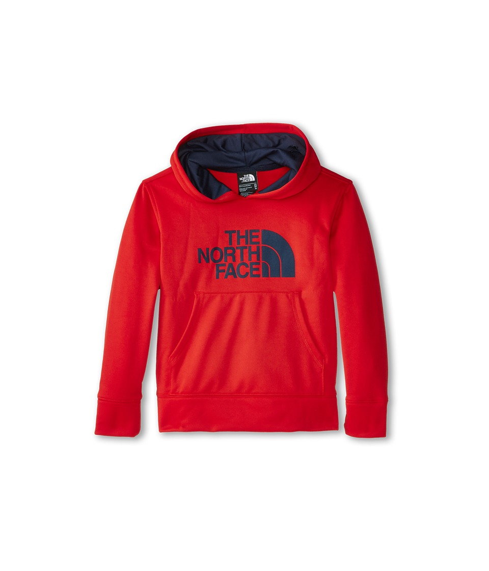 The North Face Kids - Boys' Logo Surgent Pullover Hoodie (Little Kids/Big Kids) (Fiery Red) Boy's Sweatshirt