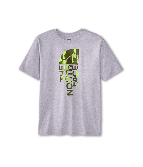 The North Face Kids - S/S Half Dome Tee (Little Kids/Big Kids) (Heather Grey) Boy's T Shirt