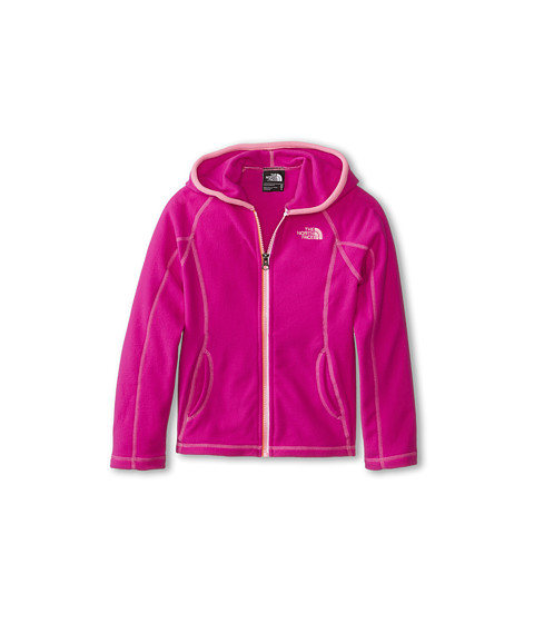 The North Face Kids - Glacier Full Zip Hoodie (Little Kids/Big Kids) (Luminous Pink) Girl's Sweatshirt