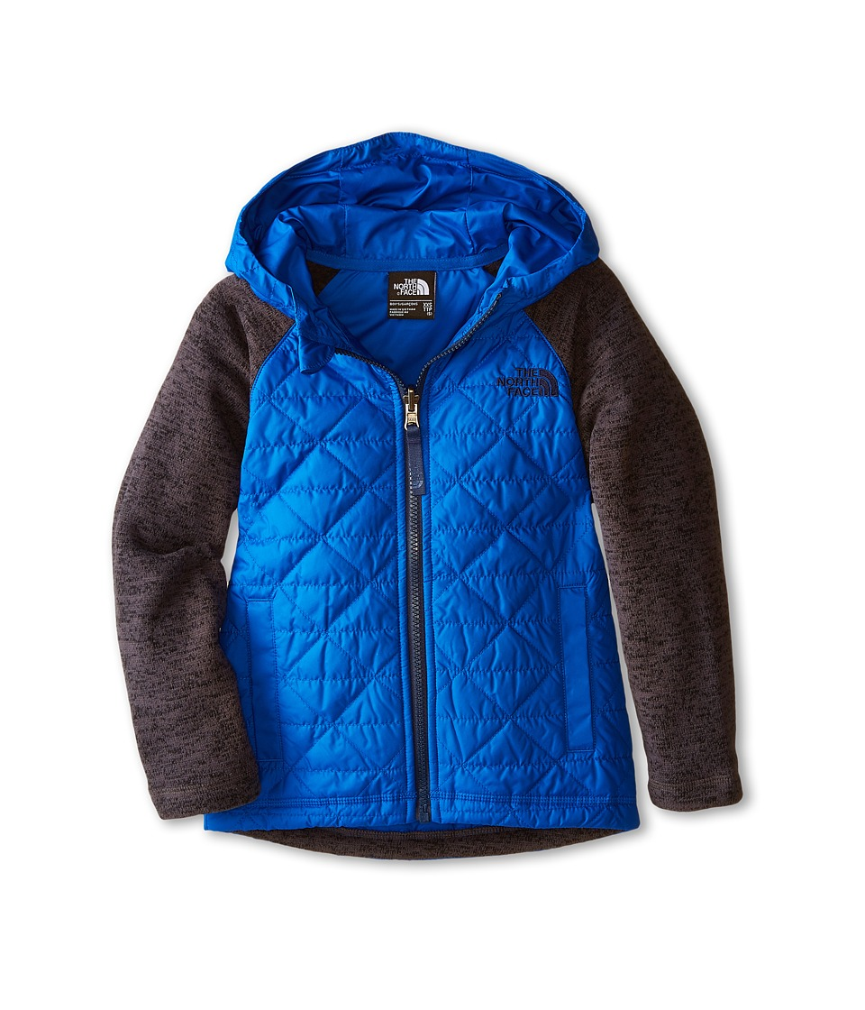 The North Face Kids - Quilted Sweater Fleece Hoodie (Little Kids/Big Kids) (Monster Blue) Boy