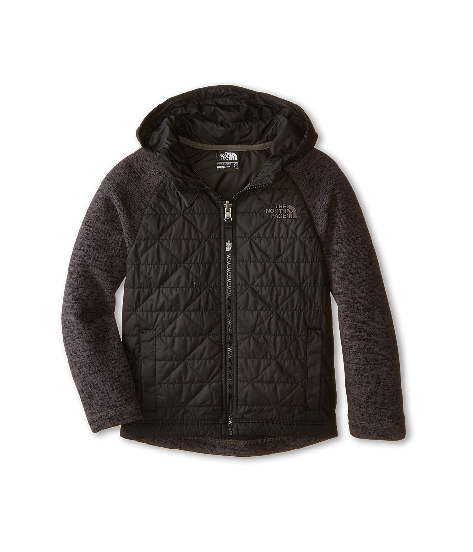 The North Face Kids - Quilted Sweater Fleece Hoodie (Little Kids/Big Kids) (TNF Black) Boy