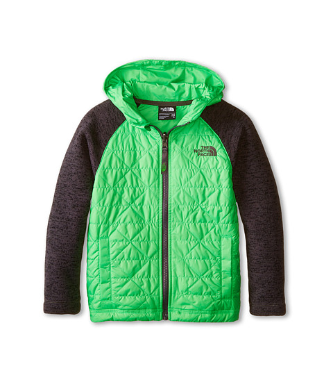 The North Face Kids - Quilted Sweater Fleece Hoodie (Little Kids/Big Kids) (Krypton Green) Boy's Jacket