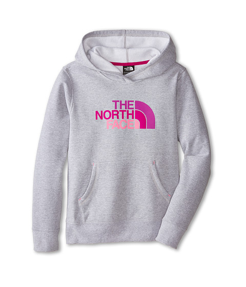 The North Face Kids - Multi Half Dome Pullover Hoodie (Little Kids/Big Kids) (Heather Grey/Gem Pink) Girl's Sweatshirt