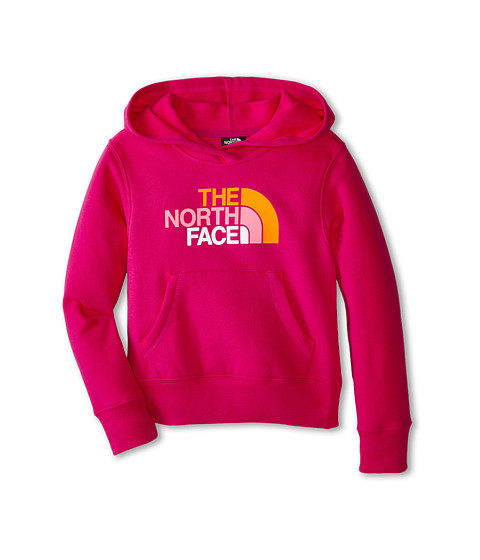 The North Face Kids - Multi Half Dome Pullover Hoodie (Little Kids/Big Kids) (Luminous Pink) Girl