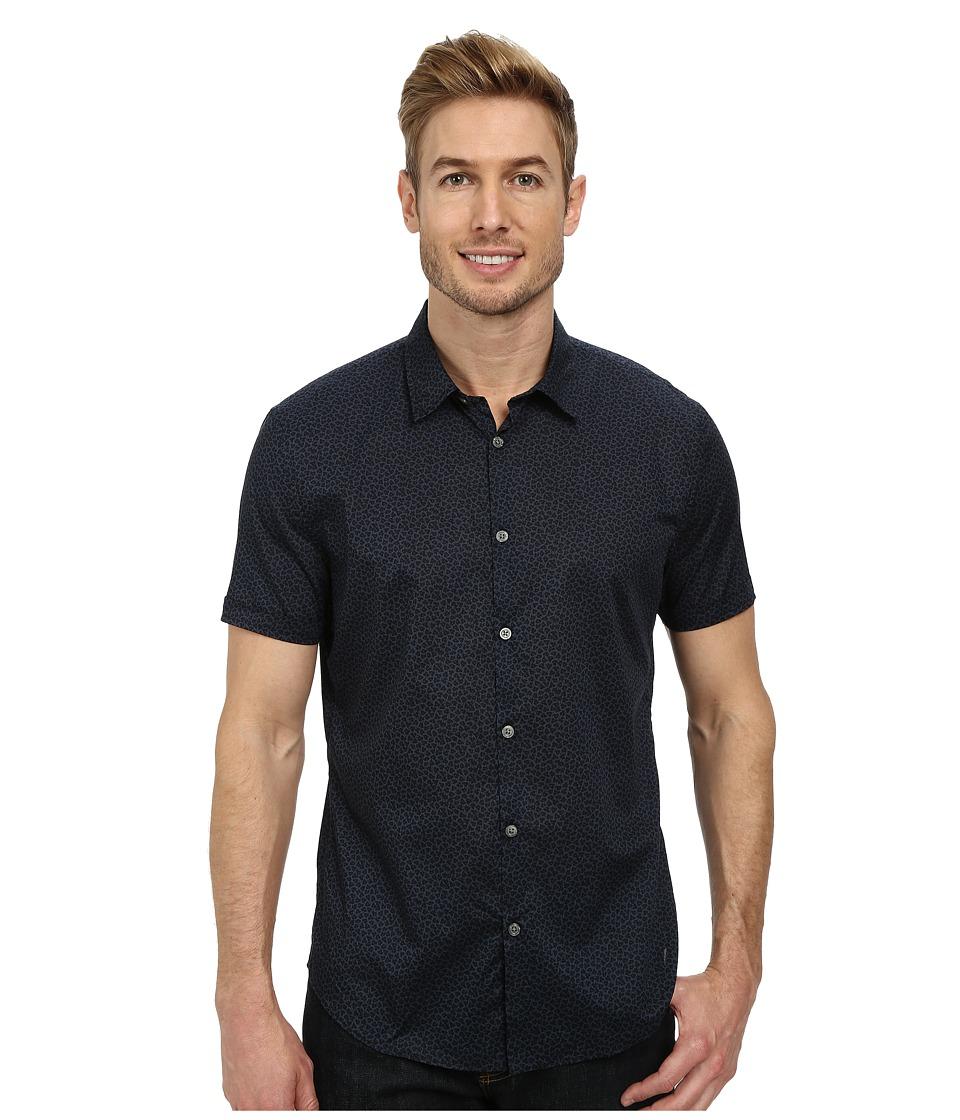 John Varvatos Star U.S.A. - Cuffed Short Sleeve Shirt (Indigo) Men's Clothing