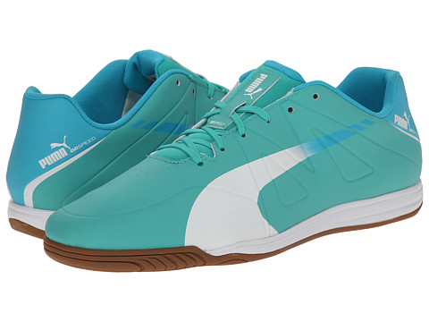 PUMA - Evospeed Star III (Pool Green/White/Scuba Blue) Men's Cleated Shoes