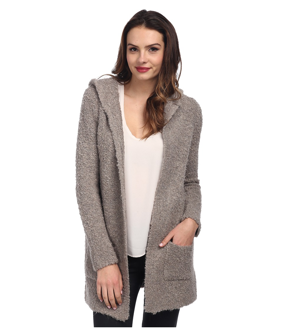 525 america - Boucle Hoodie Cardigan (Thundercloud) Women's Sweater