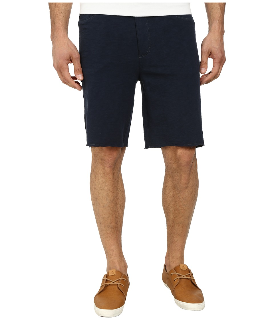 John Varvatos Star U.S.A. - Five-Pocket Jean-Style Knit Short with Raw Cut Hem (Marine) Men's Shorts