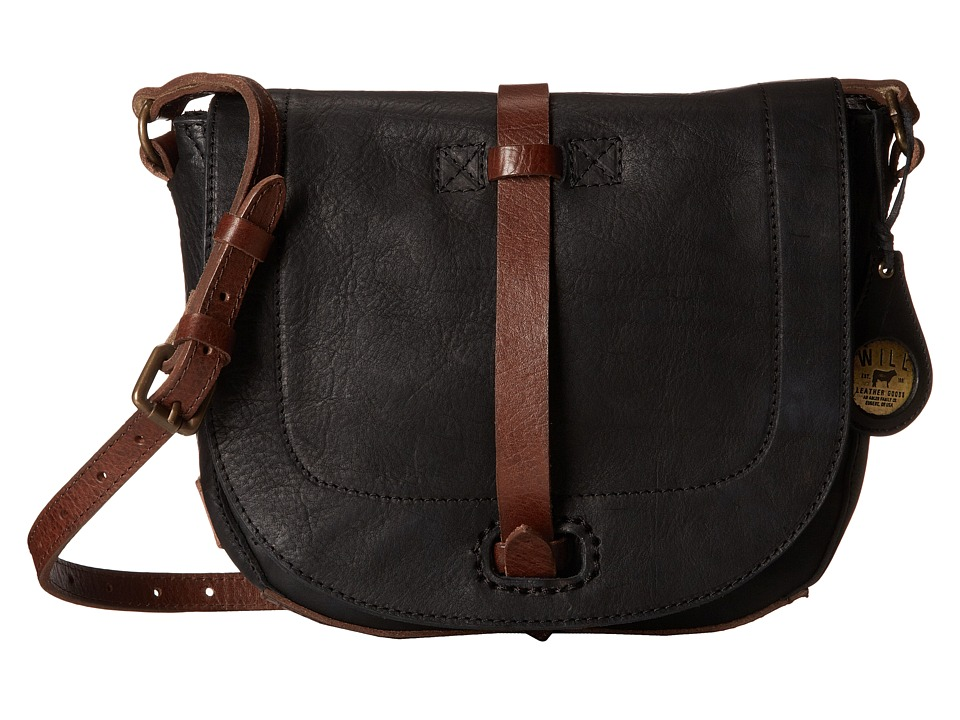 Will Leather Goods - Seneca Crossbody (Black) Cross Body Handbags