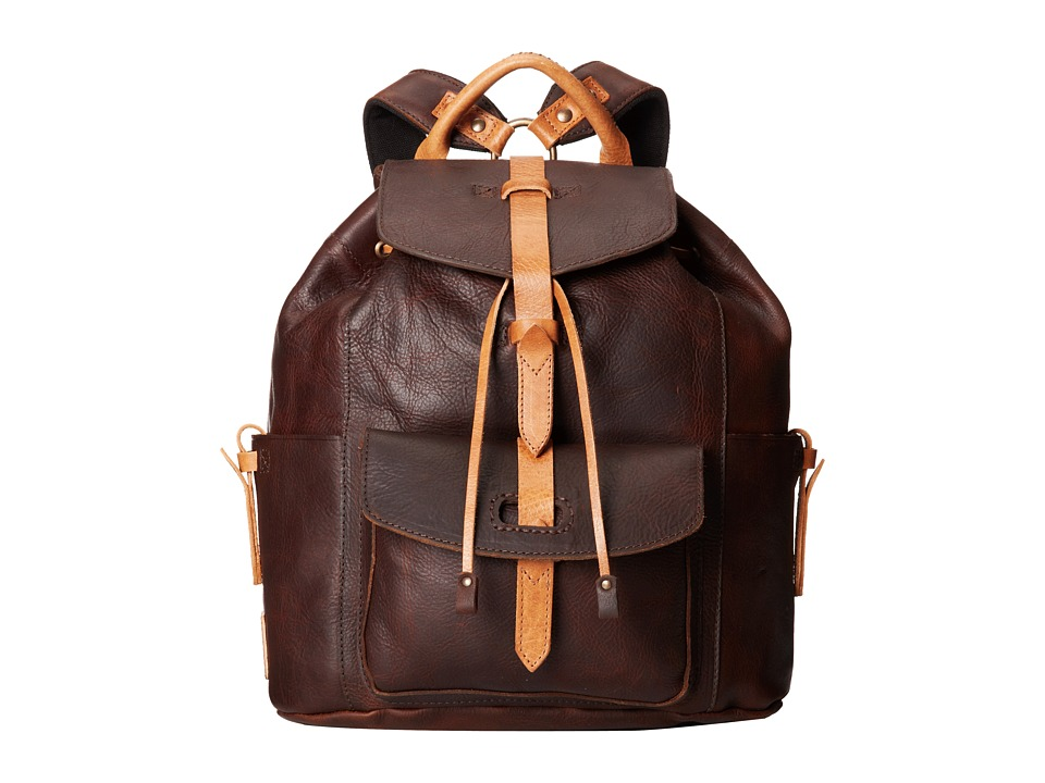 Will Leather Goods - Rainier Backpack (Brown) Backpack Bags