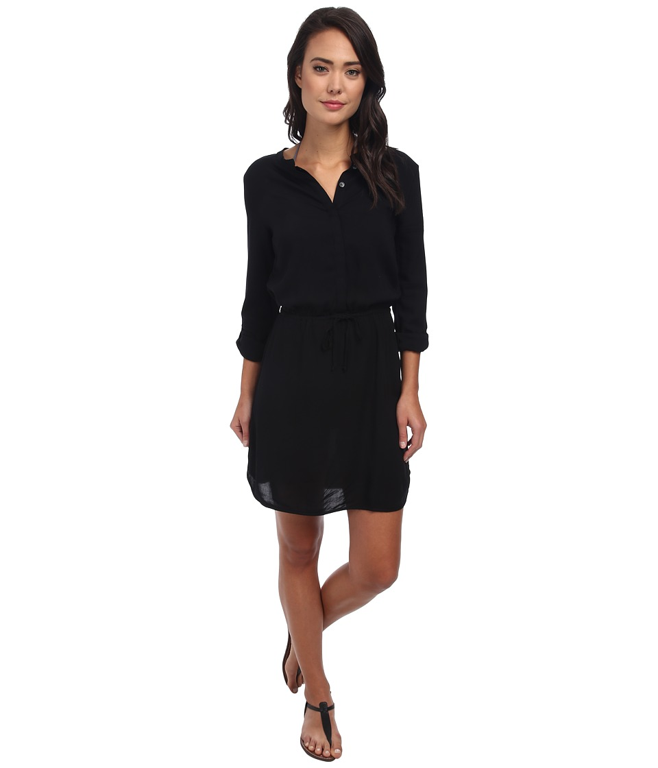 Body Glove - Pam Shirt Dress Cover-Up (Black) Women's Dress