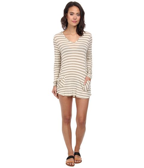 Body Glove - Val L/S Tunic Cover-Up (Sand) Women's Swimwear