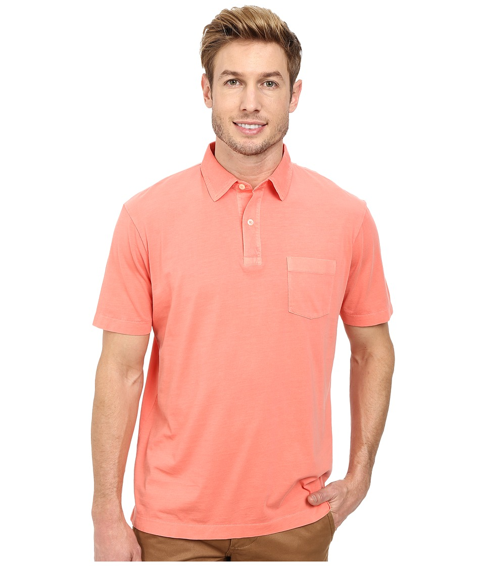 Vineyard Vines - Pigment Garment Dyed Polo (Sunrise) Men's Short Sleeve Pullover