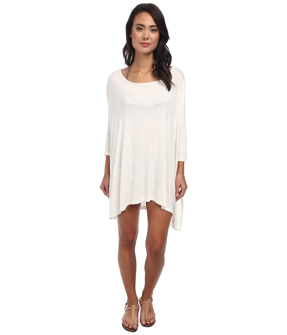 Body Glove - Brynn 3/4 Sleeve Tunic Cover-Up (Ivory) Women's Dress