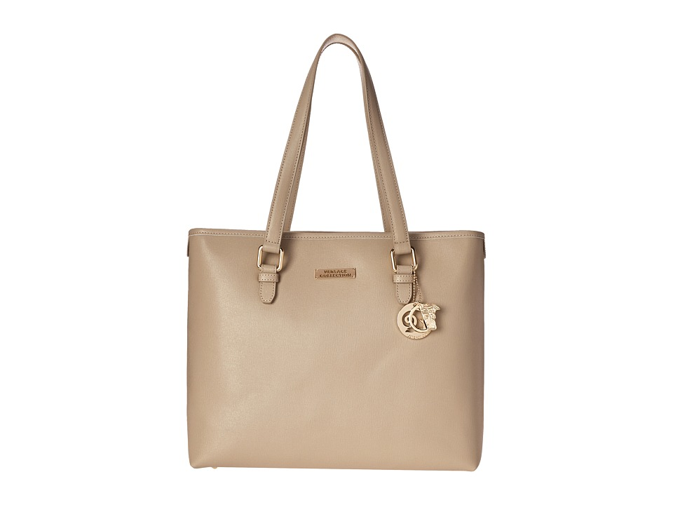 Versace Collection - Leather Tote Bag (Sabbia) Tote Handbags