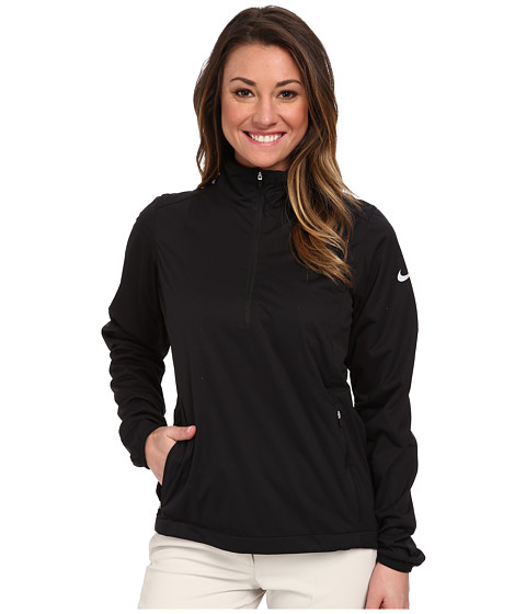 Nike Golf - Windproof 1/2 Zip (Black/Black/White Multi Snake) Women
