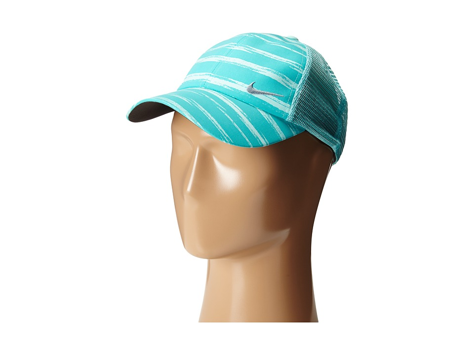 Nike Golf - Stripe Mesh Cap (Light Retro/Artisan Teal/Dove Grey) Caps