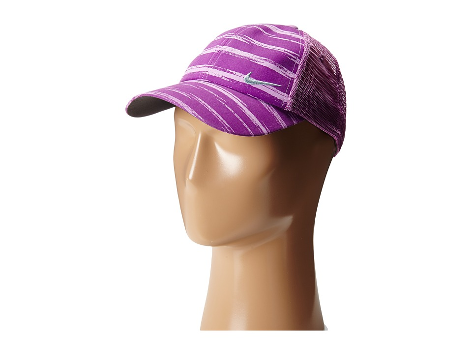 Nike Golf - Stripe Mesh Cap (Bold Berry/Violet Shock/Dove Grey) Caps