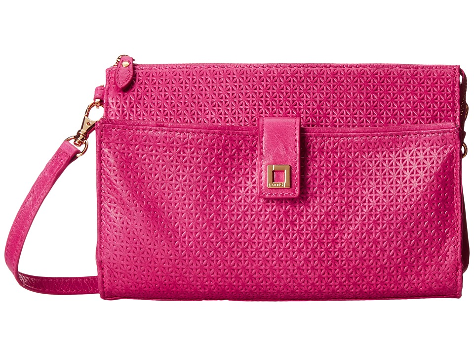 Lodis Accessories - Woodlake Vicky Convertible Crossbody Clutch (Flamingo) Clutch Handbags
