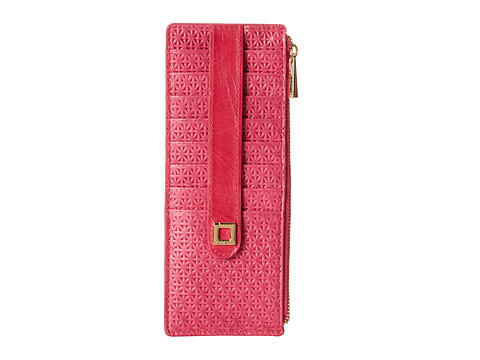 Lodis Accessories - Woodlake Credit Card Case w/ Zipper Pocket (Flamingo) Credit card Wallet