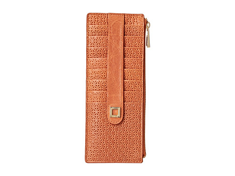 Lodis Accessories - Woodlake Credit Card Case w/ Zipper Pocket (Terra Cotta) Credit card Wallet