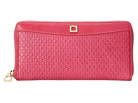 Lodis Accessories - Woodlake Iris Zip Around (Flamingo) Wallet Handbags
