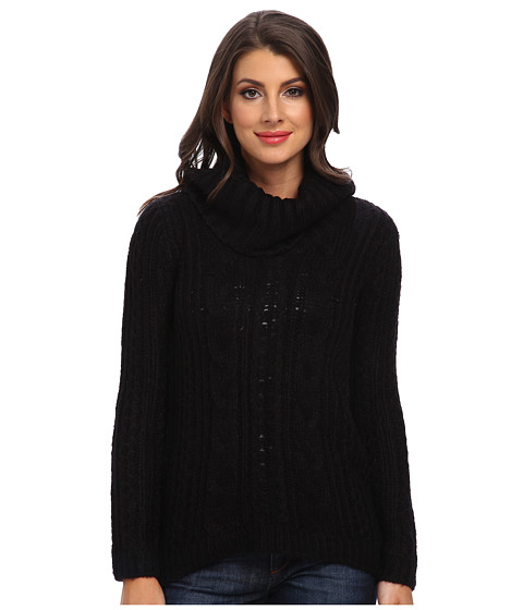 Calvin Klein - Cable Turtleneck (Black) Women
