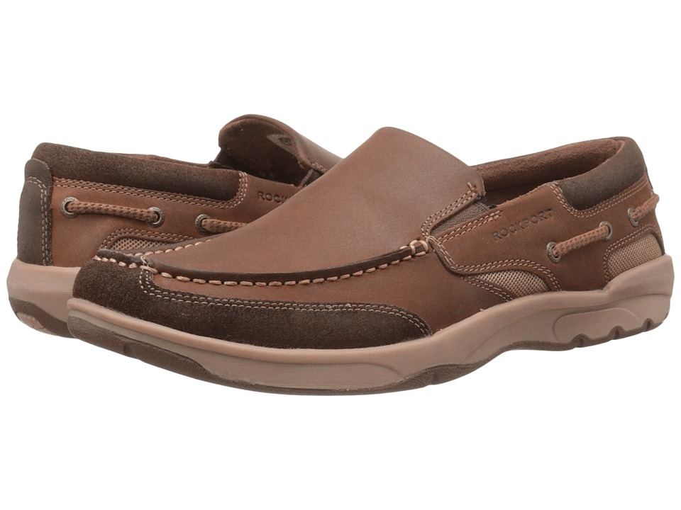Rockport - Street Sailing Slip-On (Medium Brown) Men's Slip on Shoes