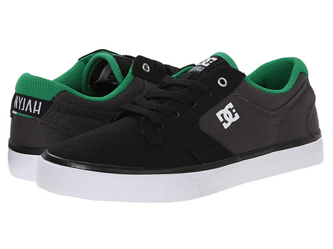 DC Kids - Nyjah Vulc TX (Big Kid) (Black/Grey/Green) Boys Shoes