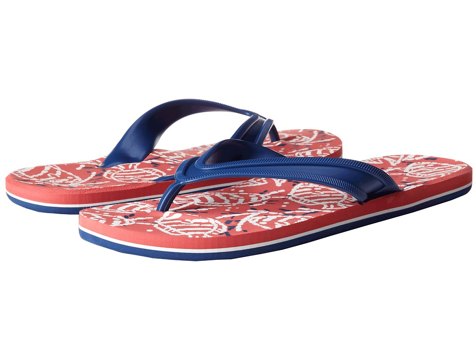 Vineyard Vines - Batik Printed Flip Flop (Dark Red) Men's Sandals