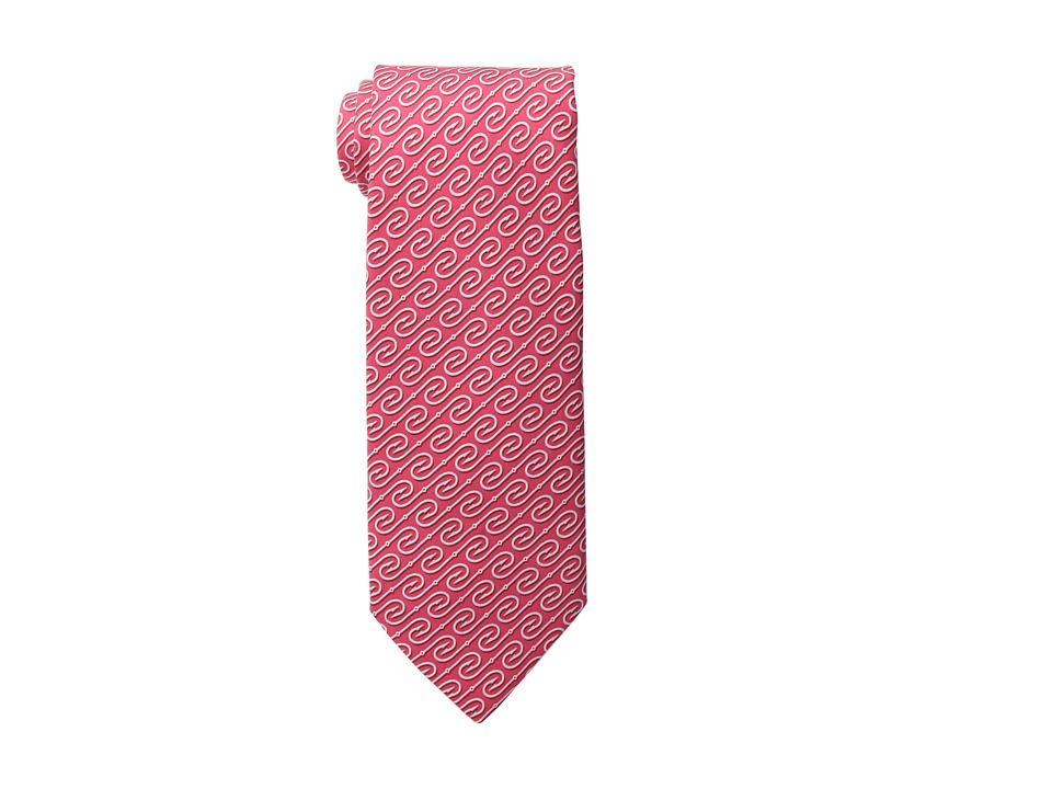 Vineyard Vines - Fish Hooks Printed Tie (Raspberry) Ties