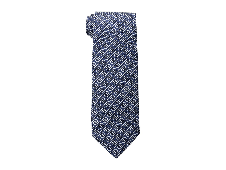 Vineyard Vines - Fish Hooks Printed Tie (Navy) Ties