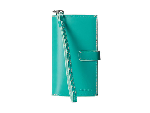 Lodis Accessories - Audrey Cassie Cell Case with Wristlet (Jade/Sky) Wallet Handbags