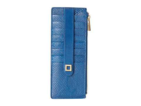 Lodis Accessories - Huron Credit Card Case w/ Zipper Pocket (Lapis Blue) Credit card Wallet