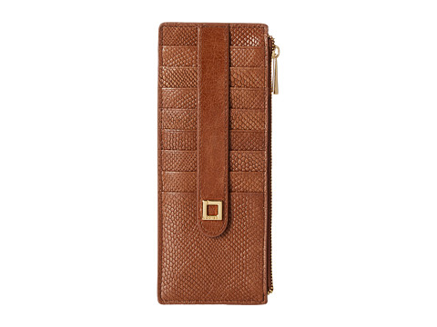Lodis Accessories - Huron Credit Card Case w/ Zipper Pocket (Maple) Credit card Wallet