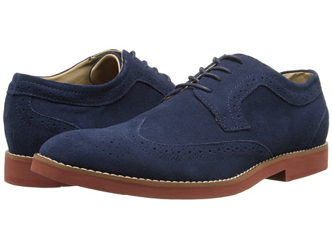 BUKS by Walk-Over - Durney (Navy Suede (Brick Bottom)) Men