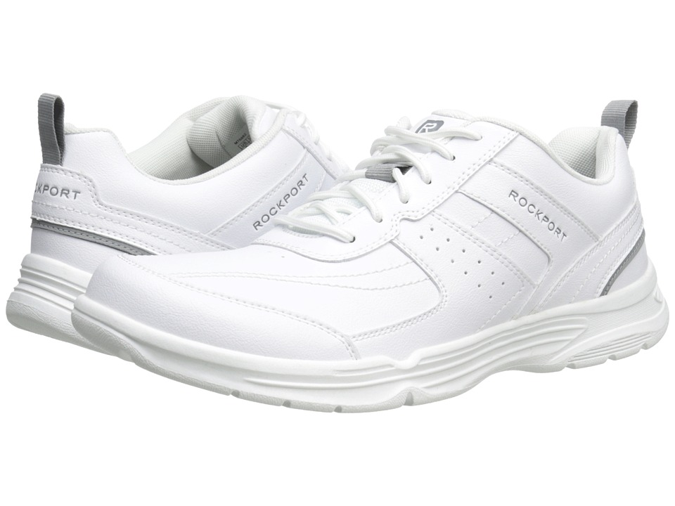 Rockport - State-O-Motion U-Bal (White) Men's Walking Shoes
