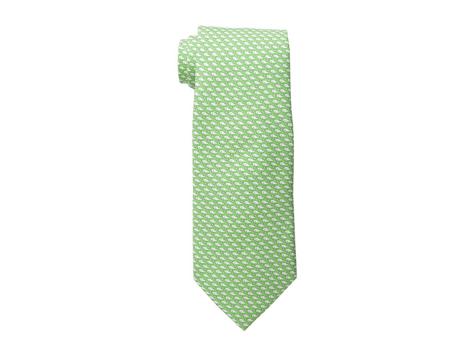 Vineyard Vines - Whale Printed Tie (Green) Ties