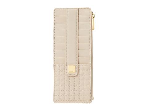 Lodis Accessories - Gardena Card Case w/ Zipper Pocket (Dark Bone) Credit card Wallet