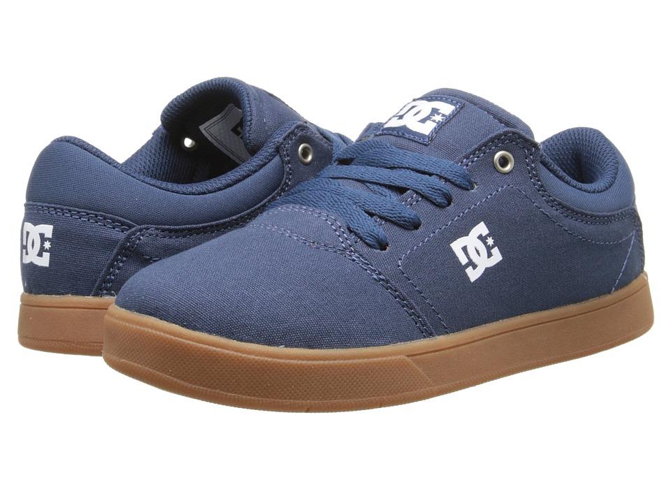 DC Kids - Crisis TX (Little Kid) (Dark Denim/Gum) Boys Shoes