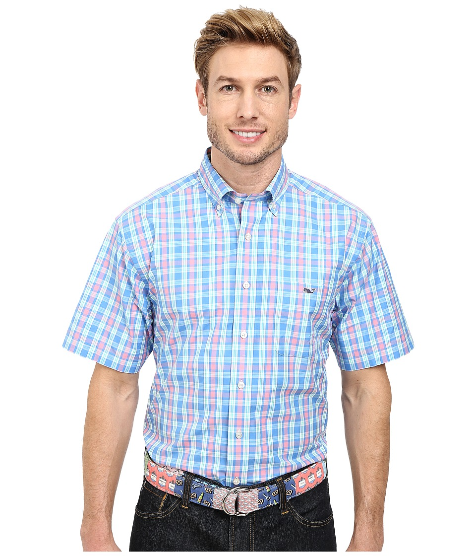 Vineyard Vines - Lure Plaid S/S Tucker Shirt (Harbor Cay) Men